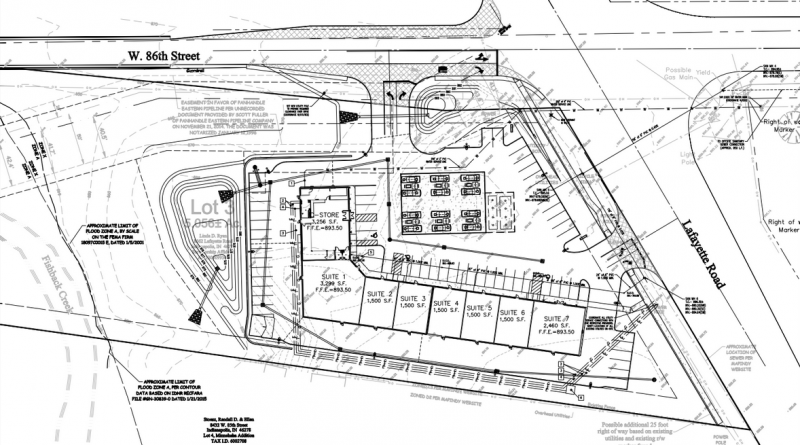 8562 Lafayette Road Gas Station Site Plan