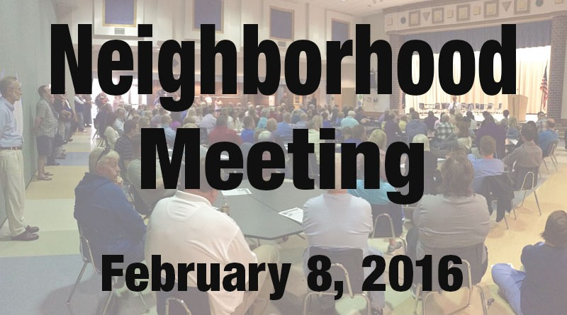 20160208 Neighborhood Meeting